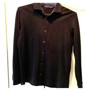 Bugatchi Men's long sleeve shirt black